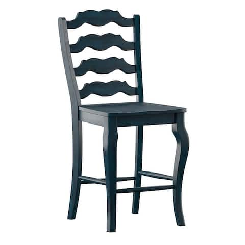 Eleanor French Ladder Back Wood Counter Chair (Set of 2) by iNSPIRE Q Classic