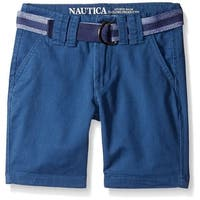 Nautica Boys 4-7 Belted Twill Short