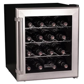 Koldfront TWR160 17 Inch Wide 16 Bottle Wine Cooler with Thermoelectric Cooling