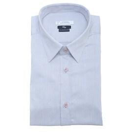 Versace Collection Cotton City Fit Dress Shirt Grey