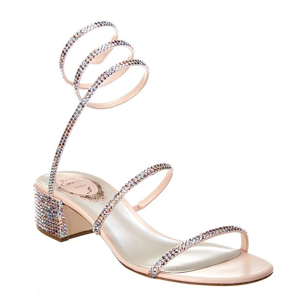 Shop Rene Caovilla Cleo 40 Satin Sandal