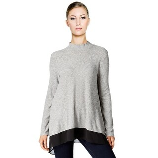 Style & Co Mock Neck Chiffon Hem Long Sleeve Pullover Sweater Top (4 options available)