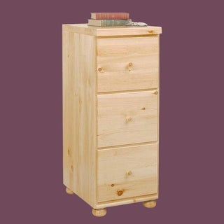 Office File Cabinet Country Pine Wentworth 3 Drawer 40H
