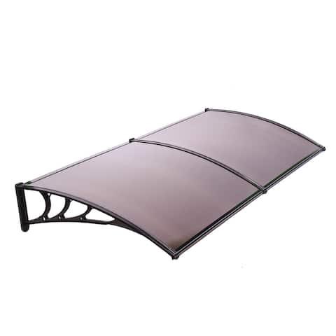 ALEKO Polycarbonate Outdoor Window or Door Canopy 40 x 80 Inches Brown
