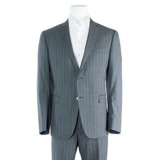 Versace Collection Gray Stripe Wool Two Button Suit - 44
