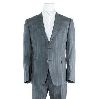 Versace Collection Men's Navy Stripe Wool Two Button Suit - 46