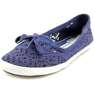 Keds Teacup Crochet Women Round Toe Canvas Blue Flats