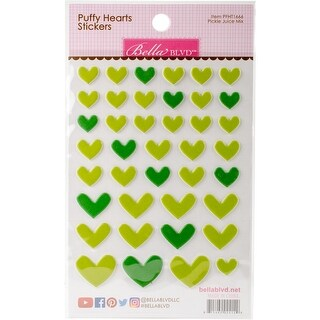 Puffy Heart Stickers -Pickle Juice Mix