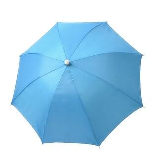 "Unique Bargains Men Women 27.6"" Diameter Foldable Fishing Umbrella Cap Hat Light Blue"