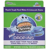 Scrubbing Bubbles 70480 Vanish Continuous Clean Drop-Ins, 4.23 Oz