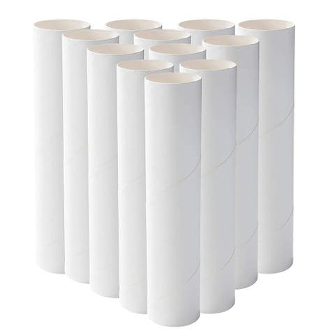 12 Pack Craft Rolls, Round Cardboard Tubes for DIY Crafts Projects, 8 Inches - White