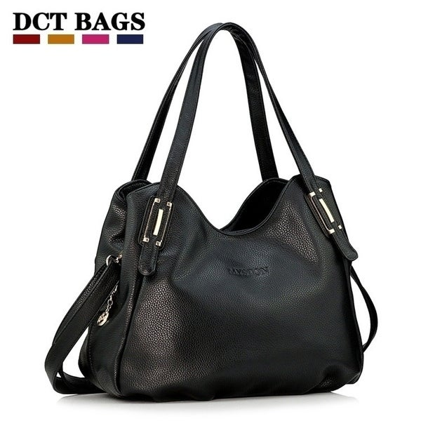 e6964a51976 Handbags Wholesale Soft Leather Black Bags Desigual Women Fashion Casual-bag  Famous Brand Shoulder Bolsa