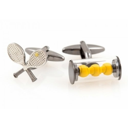 Tennis Racquet And Balls Tennis Sport Cufflinks
