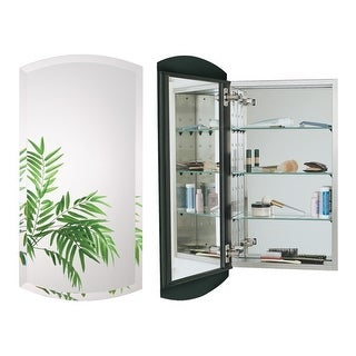"""Alno MC4335 Euro 15"""" x 30"""" Single Door Recessed Medicine Cabinet with Stainless Steel Interior and Beveled Arched Mirror"""