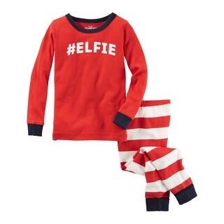 OshKosh B'Gosh Little Boys' Elfie Holiday Snug Fit Cotton 2 Piece Pajama Set