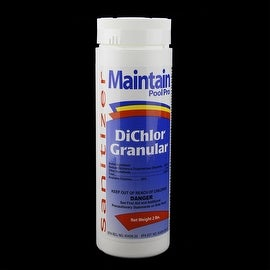 Maintain Pool Pro Sanitizer Concentrated Stabilized Chlorinating DiChlor Granular 2lbs