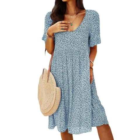 Urban Casual Retro Women's Short Sleeve Dress