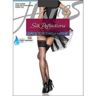 Hanes Silk Reflections Lace Top Thigh Highs - cd