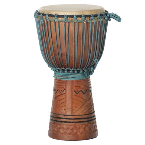 Mahogany and Blue Rope Professional Level Djembe Drum
