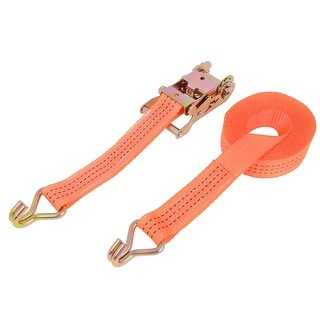 Unique Bargains Lorry Truck Container Goods Binding Luggage Bundle Rope 6M Long Orange