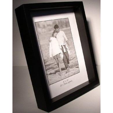 Shop 11x14 Black Wood Shadow Box Frame 1 Depth Free Shipping On
