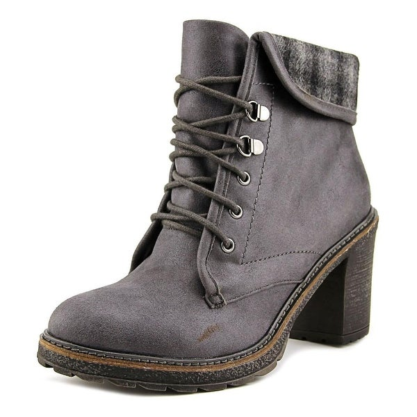 White Mountain JayJay Women Round Toe Canvas Ankle Boot