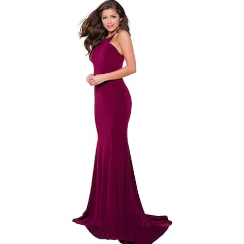 JVN by Jovani Womens 42892A Evening Dress Prom Cut-Out