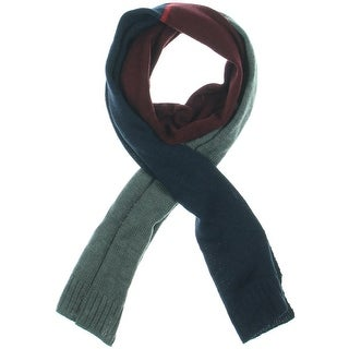 Tommy Hilfiger Mens Wool Blend Striped Winter Scarf - o/s