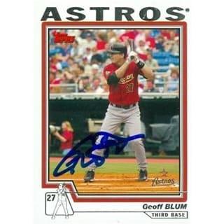 Geoff Blum Autographed Baseball Card Houston Astros 2004 Topps No56 Overstockcom Shopping The Best Deals On Baseball