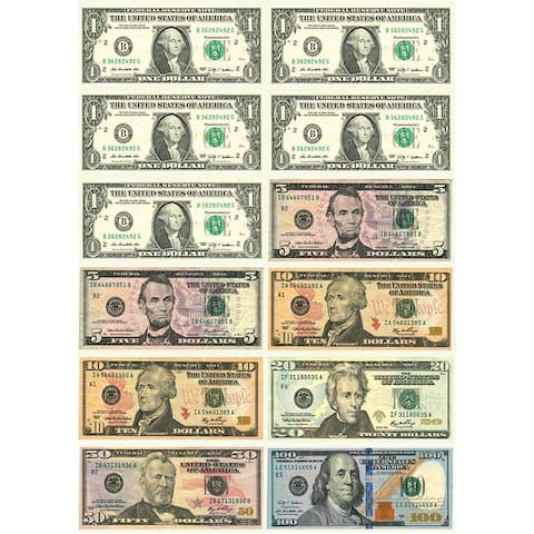 Math Die Cut Magnets U.S. Dollars