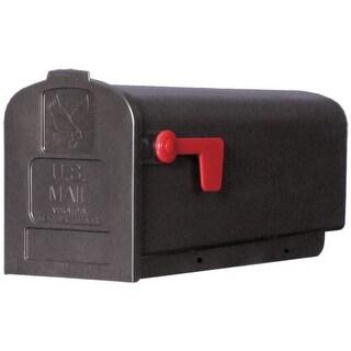 Gibraltar PL10B0201 Parson Rural Mailbox, Polypropylene, Black