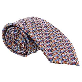 Missoni Grid Chain Link Multicolor Woven 100% Silk Tie