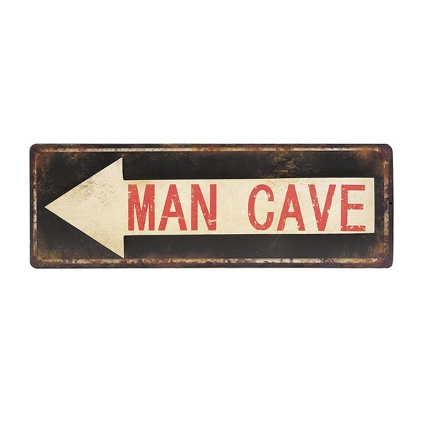 Shop 24 Distressed Man Cave Arrow Iron Decorative Street Sign