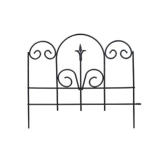 "Panacea 89382 Garden Edge With Finial, 16"" H x 18"" W, Black"