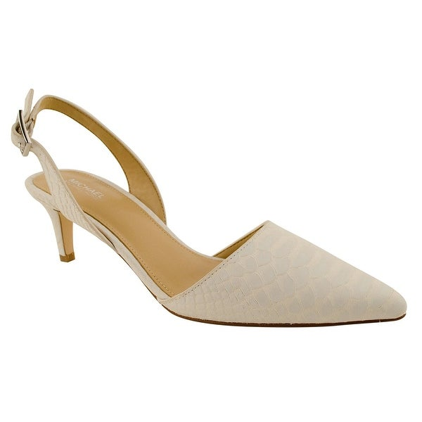 MICHAEL Michael Kors Womens Claudia Leather Pointed Toe SlingBack Classic Pumps