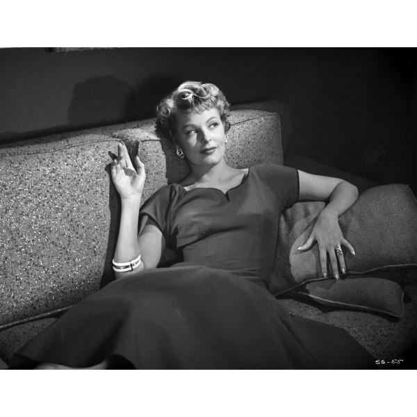 arlene dahl reclining in classic photo print