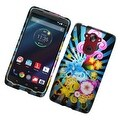 Insten Colorful Fireworks Hard Snap-on Rubberized Matte Case Cover For Motorola Droid Turbo - Thumbnail 0