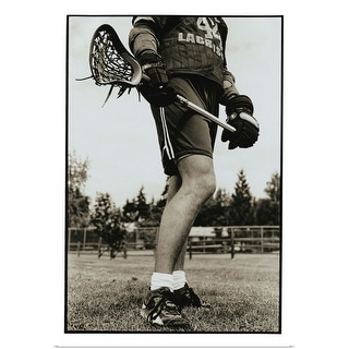 """Detail of Lacrosse Athlete"" Poster Print"