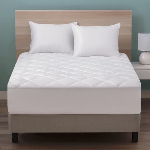 Sweet Slumber Quilted Mattress Pad by Cozy Classics - White
