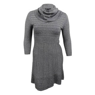 INC International Concepts Women's Cowl-Neck Sweater Dress - Grey