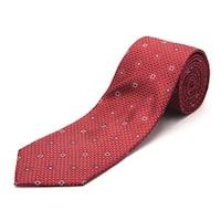 Luciano Barbera Men's Slim Silk Neck Tie Crimson Red