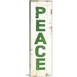 """Peace Christmas"" Canvas Wall Art"