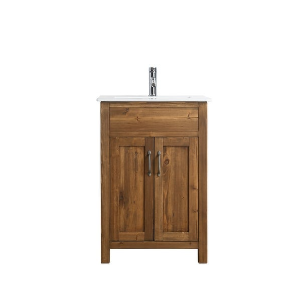 """Bryson 24"""" Single Sink Vanity In Walnut. Opens flyout."""