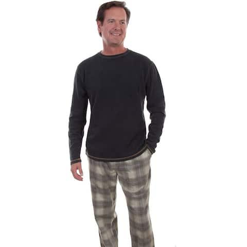Scully Western Pants Mens Lounge Pajama Plaid Tie Waist - L