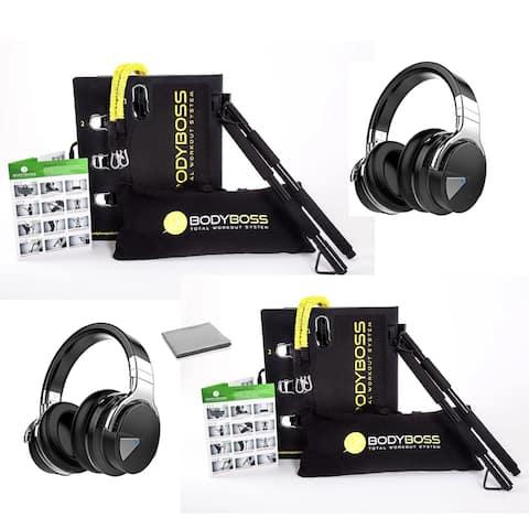 BodyBoss 2.0 Portable Home Gym System (2 pack) -Resistance Bar,
