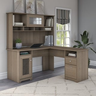 Link to Copper Grove Daintree L-shaped Desk with Hutch Similar Items in Desks & Computer Tables