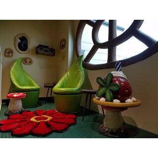 Green Leaf Swivel Chair