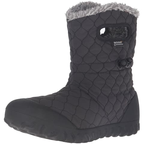 Bogs Womens Bmoc Quilt Puff Fabric Closed Toe Mid-Calf Cold Weather Boots