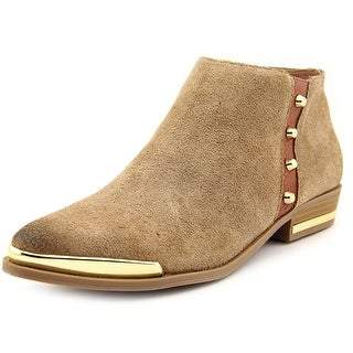 Fergie Indigo Women Pointed Toe Suede Brown Ankle Boot