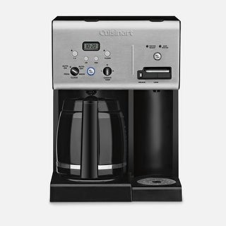 Cuisinart Coffee Plus 12 Cup Programmable Coffeemaker Plus Hot Water System Refurbished
